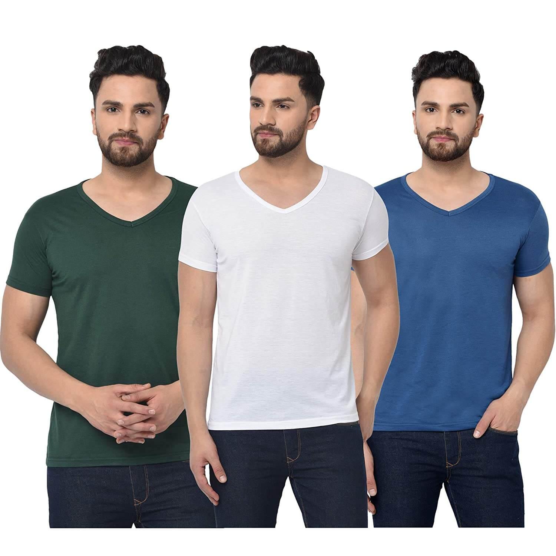 Wear a V Neck Undershirt